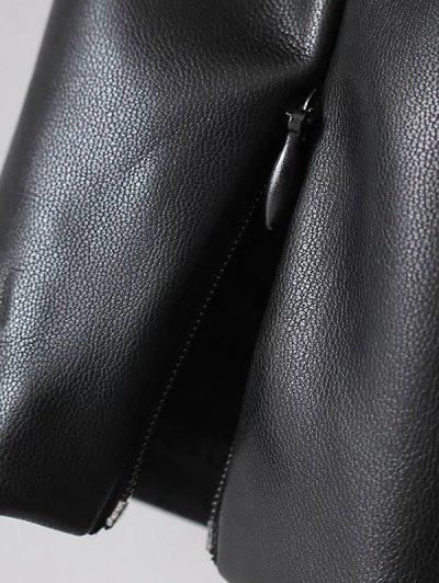 Skinny PU Leather Narrow Feet Pants - BLACK M Mobile