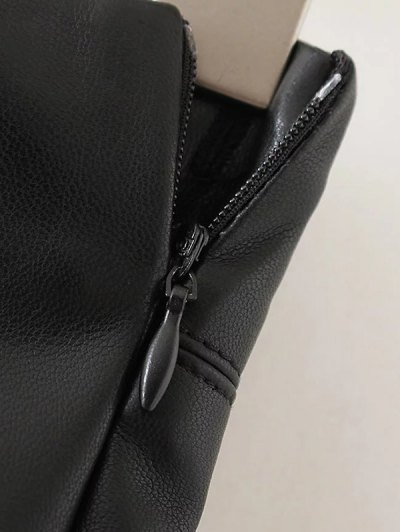 Skinny PU Leather Narrow Feet Pants - BLACK S Mobile
