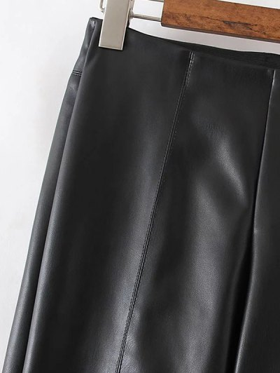Skinny PU Leather Narrow Feet Pants - RED L Mobile