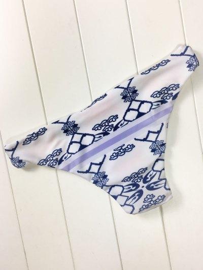 Blue and White Porcelain Cami Bikini - BLUE AND WHITE L Mobile