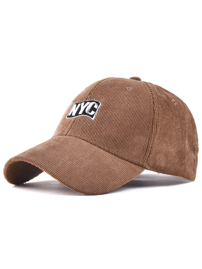 Embroidery Corduroy Baseball Hat
