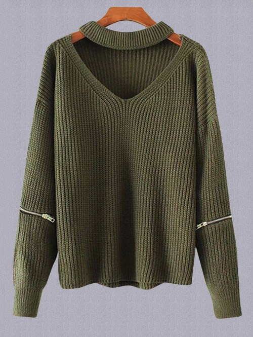 Plus Size Choker Sweater