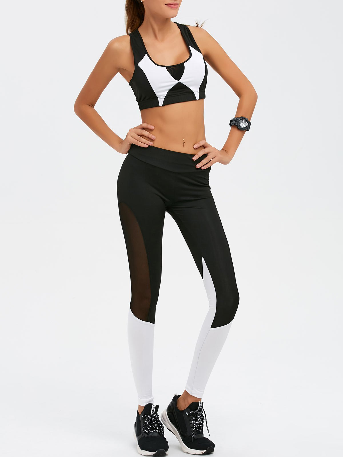 Mesh Paneled Gym Suit