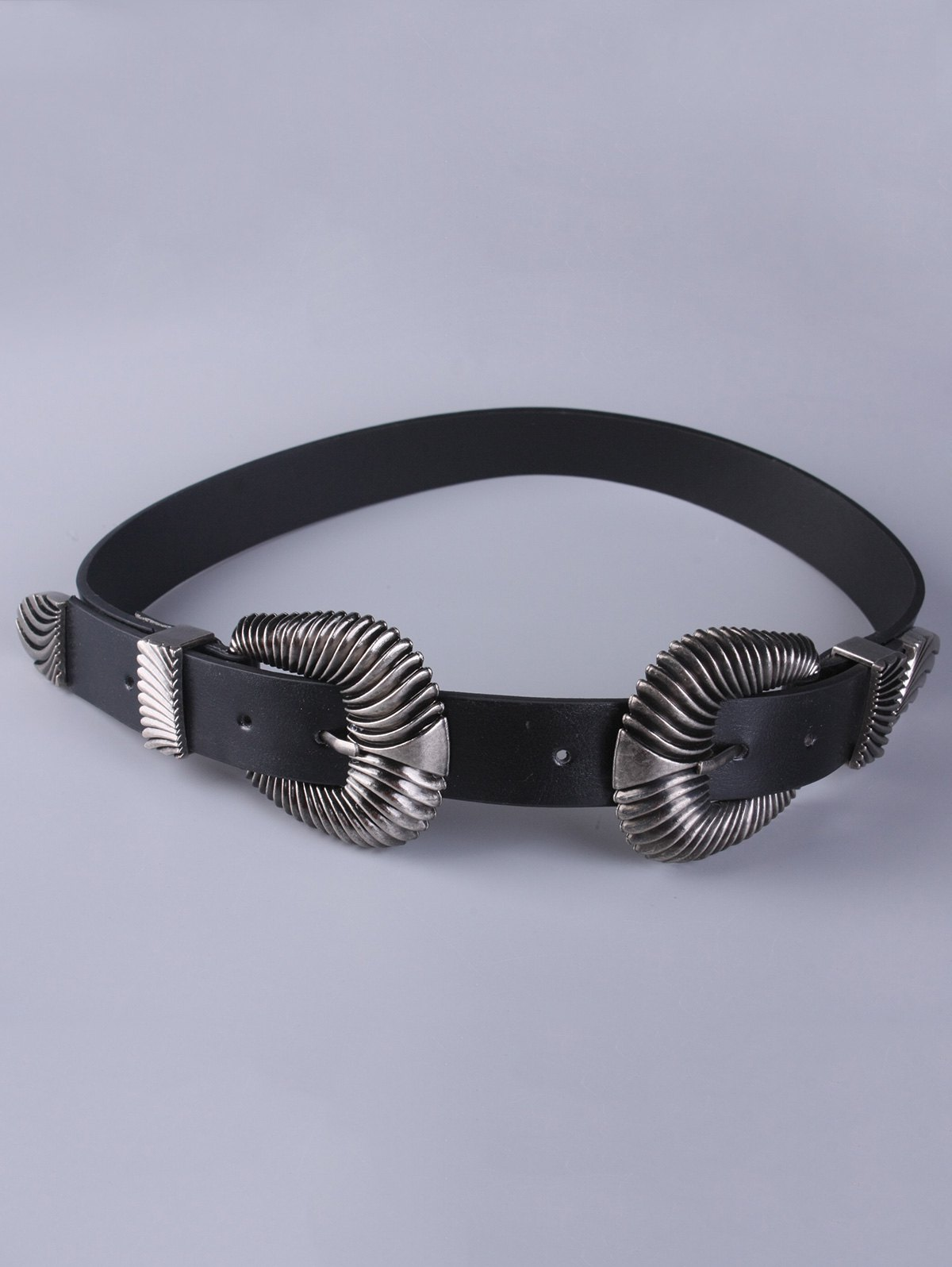 Double Shell Buckle Belt