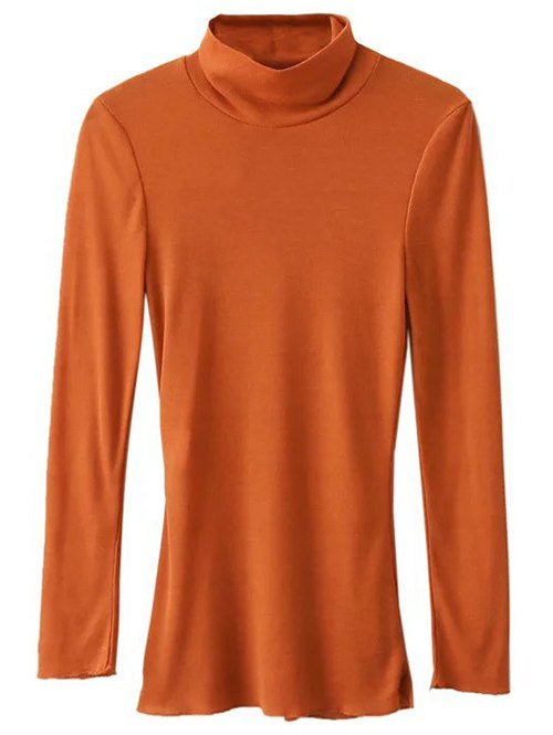 High Collar Long Sleeve Tee