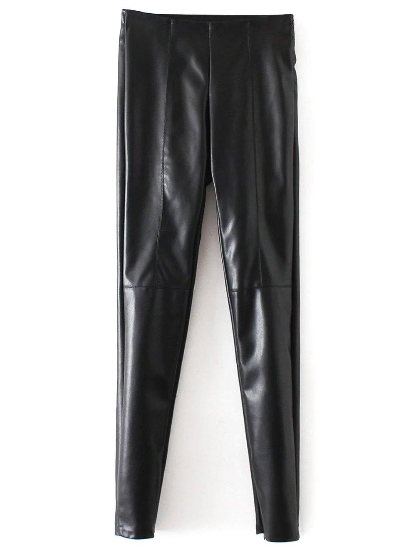PU Leather Narrow Feet Pants