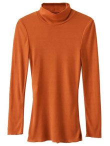 High Neck Long Sleeve Basic Tee