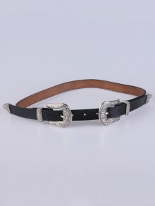 Double Pin Buckle Belt