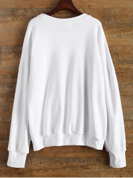 Soda Bottle Funny Sweatshirt - WHITE ONE SIZE Mobile