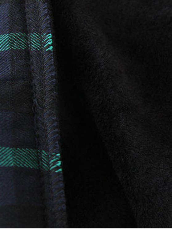 Plus Size Layered Hem Sweatshirt - BLACK AND GREEN 2XL Mobile