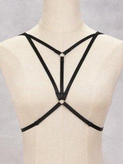 Bra Strappy Bondage Harness Body Jewelry - Black