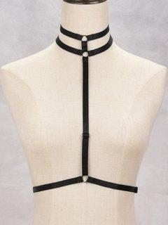 Bra Elastic Bondage Harness Body Jewelry - Black
