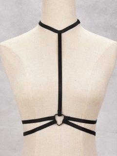 Bra Resilient Bondage Harness Body Jewelry - Black