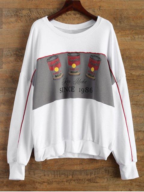 new Soda Bottle Funny Sweatshirt - WHITE ONE SIZE Mobile