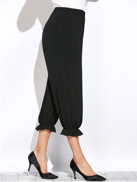 shops See Through Lantern Pants - BLACK S Mobile