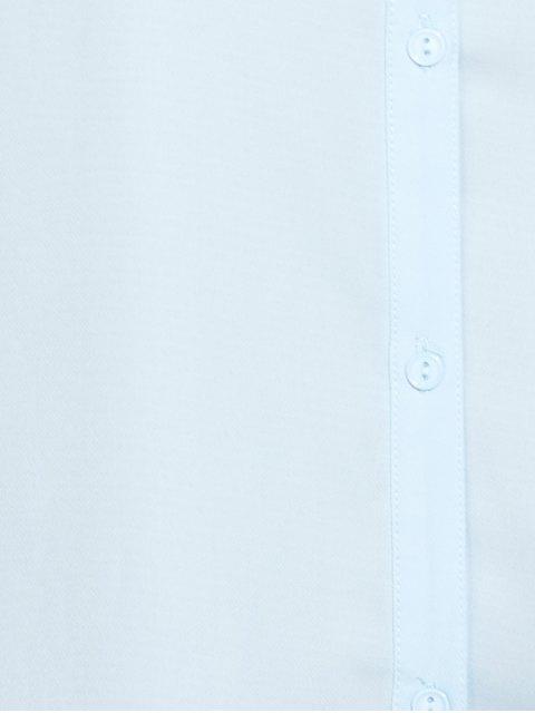 new Cold Shoulder Ruffled Shirt Dress - LIGHT BLUE 2XL Mobile