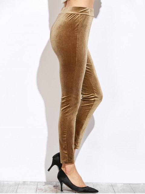 outfits Slimming Leggings - LIGHT COFFEE XL Mobile