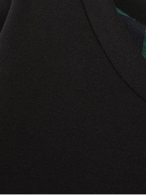 trendy Plus Size Layered Hem Sweatshirt - BLACK AND GREEN 2XL Mobile