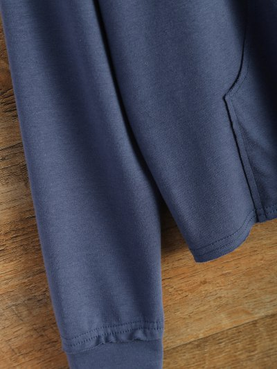 Loose Streetwear Sweatshirt - BLUE L Mobile