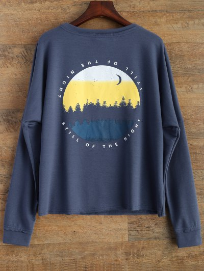 Loose Streetwear Sweatshirt - BLUE S Mobile