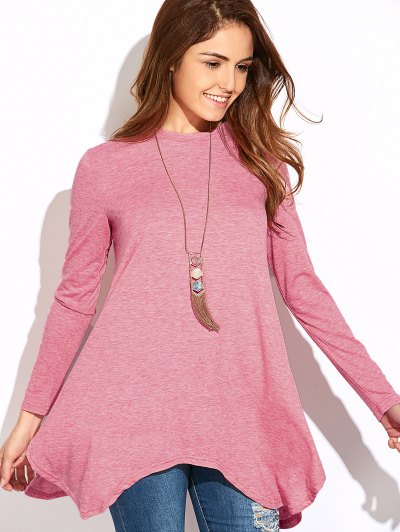 Baggy Asymmetric T-Shirt - PINK 2XL Mobile