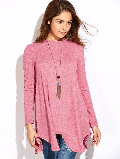 Baggy Asymmetric T-Shirt - PINK L Mobile