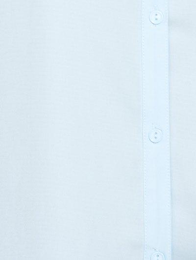 Cold Shoulder Ruffled Shirt Dress - LIGHT BLUE M Mobile