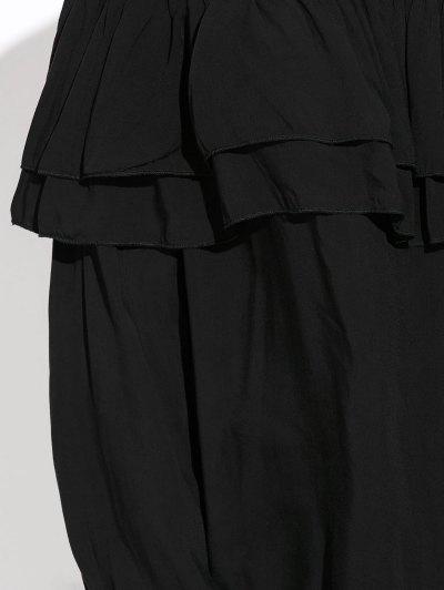 Flounce Off The Shoulder Blouse - BLACK XL Mobile