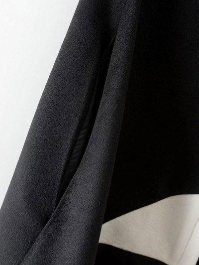 Cashmere Pentagram Print Cape Coat - BLACK M Mobile
