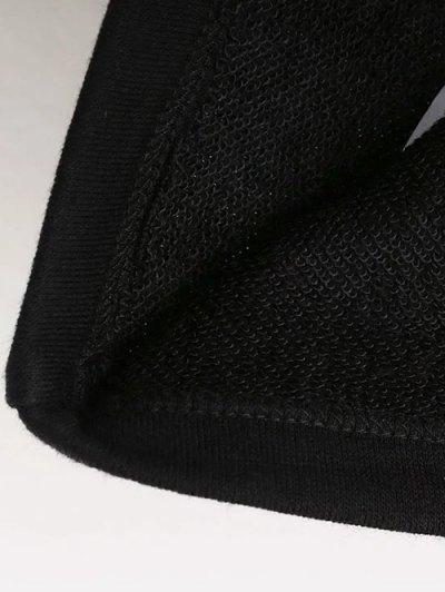 Graphic Pattern Jewel Neck Sweatshirt - BLACK M Mobile
