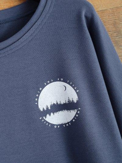 Loose Streetwear Sweatshirt - BLUE XL Mobile