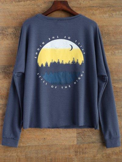 Loose Streetwear Sweatshirt - BLUE M Mobile