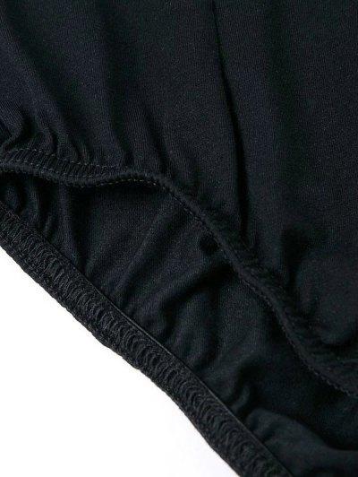 Cut Out Long Sleeve Choker Bodysuit - BLACK S Mobile
