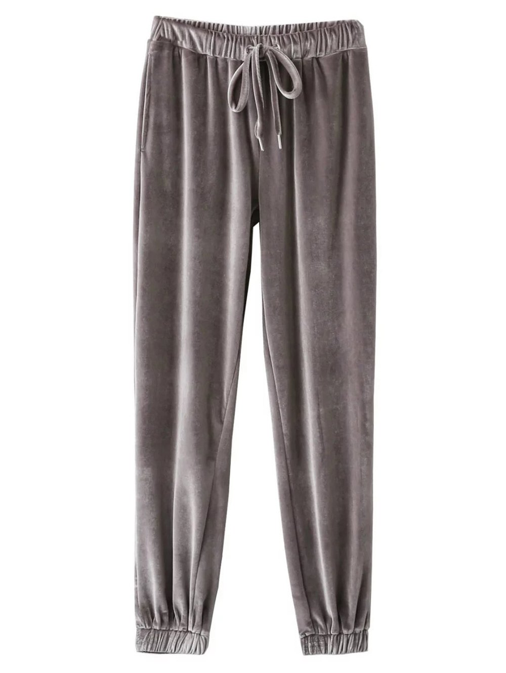 Velour Drawstring Sweatpants