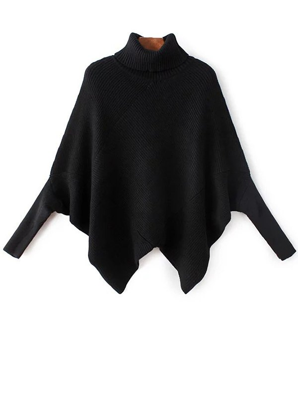 Turtleneck Batwing Sleeve Sweater