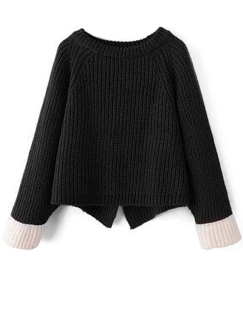 Raglan Sleeve Chunky Knit Sweater