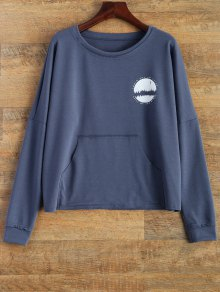 Loose Streetwear Sweatshirt - Blue 2xl