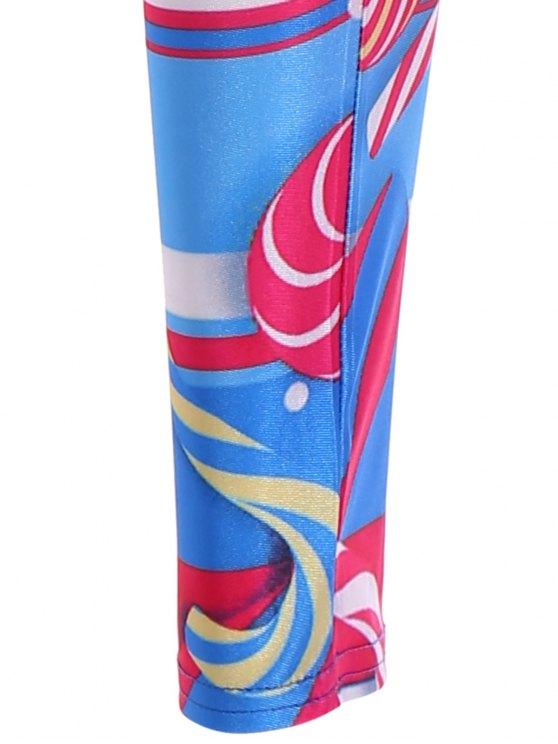 Skinny Lollipop Pattern Leggings - COLORMIX XL Mobile
