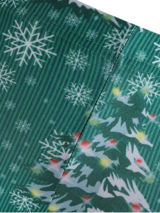 Skinny Christmas Festival Leggings - GREEN L Mobile