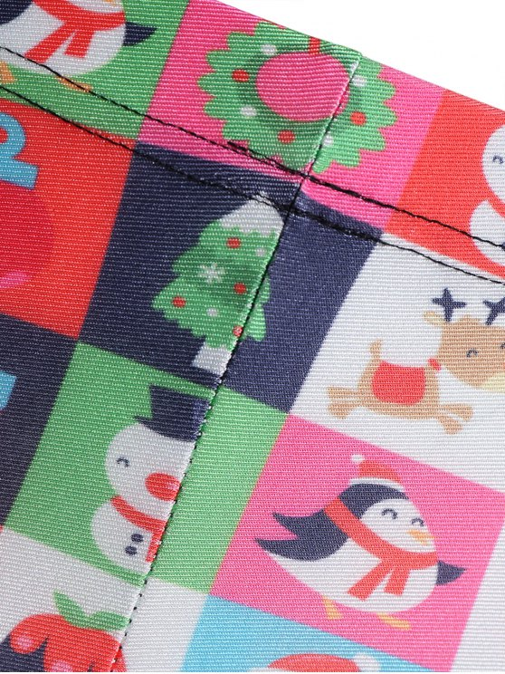 Christmas Snowman Leggings - COLORMIX M Mobile