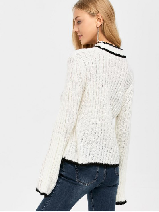 Flare Sleeve Stand Neck Sweater -   Mobile