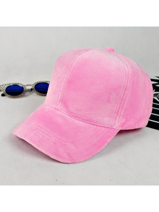 Lovers Adjustable Velvet Baseball Hat - PINK  Mobile
