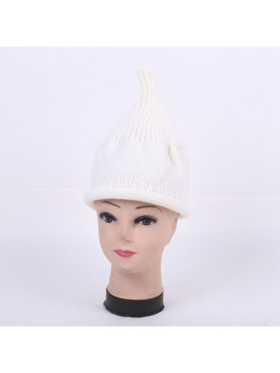 Winter Teat Shape Knit Hat - WHITE  Mobile