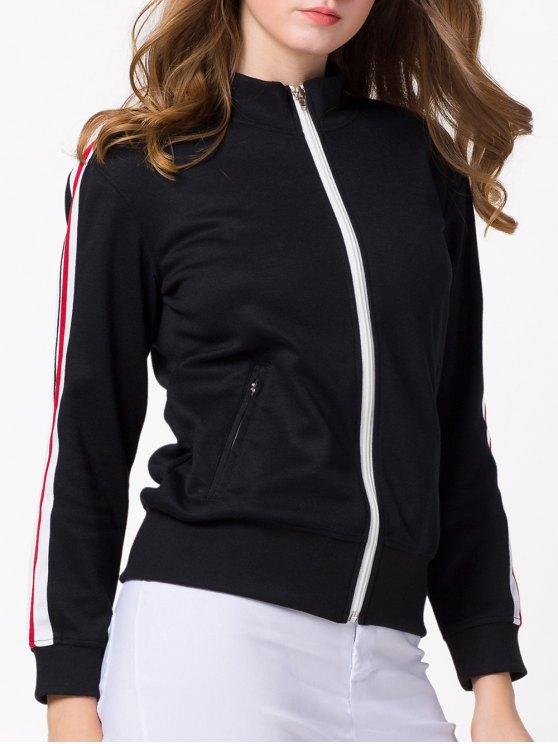 Sports Zip-Up Jacket - BLACK 2XL Mobile