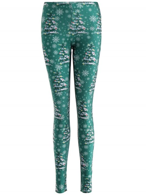 hot Skinny Christmas Festival Leggings - GREEN XL Mobile
