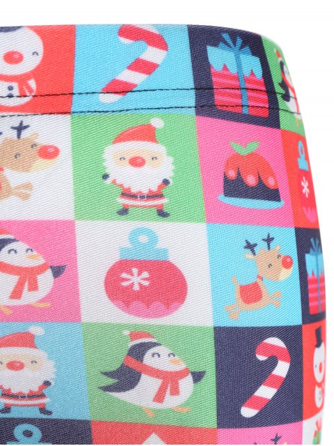 affordable Christmas Snowman Leggings - COLORMIX XL Mobile