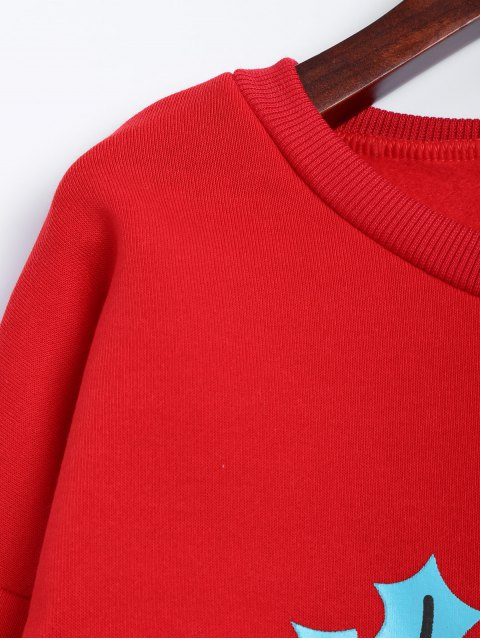unique Christmas Fleece Sweatshirt - RED M Mobile