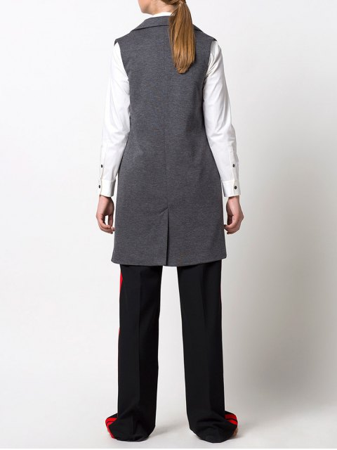 outfits One-Button Waistcoat - GRAY XS Mobile