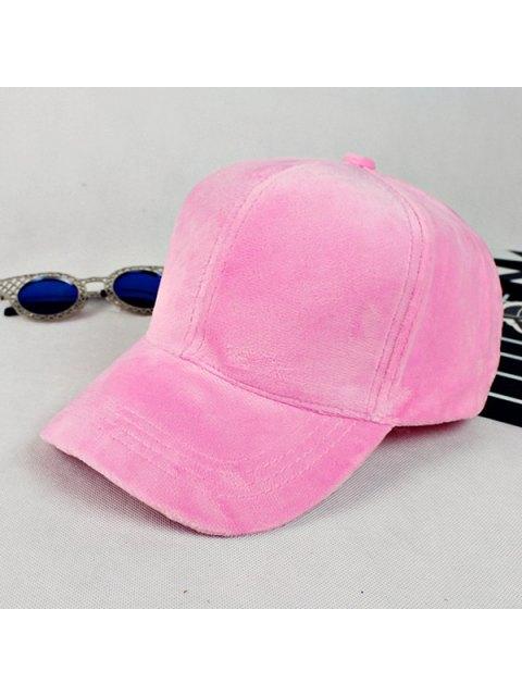 buy Lovers Adjustable Velvet Baseball Hat - PINK  Mobile