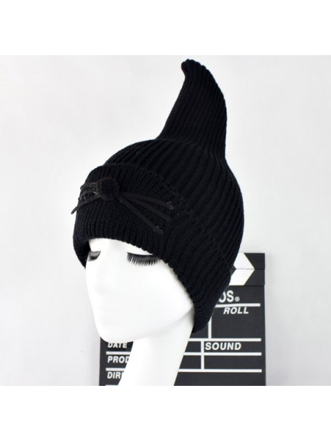 new Warm Cat Beard Shark Fin Shape Knit Hat -   Mobile